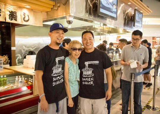 Keizo with his mom and brother