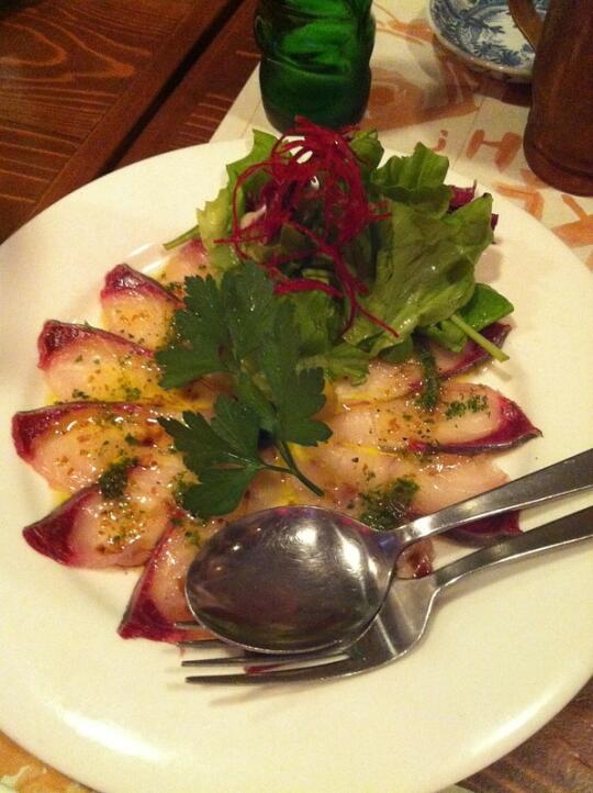 Kampachi carpaccio