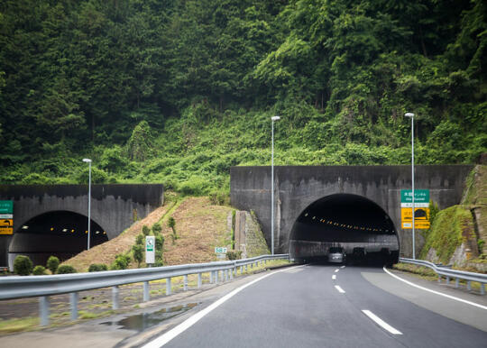 Approaching a tunnel