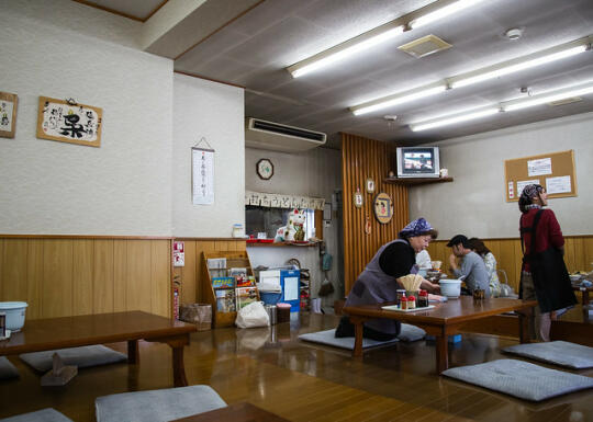 Inside the udon shop