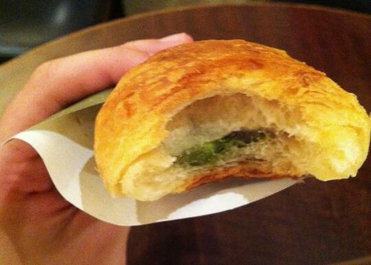 Inside of croissant