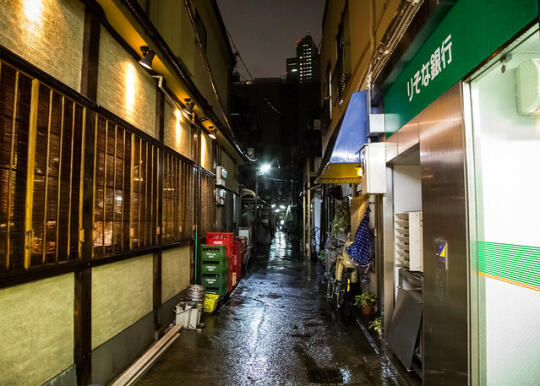 An alley near the monja place