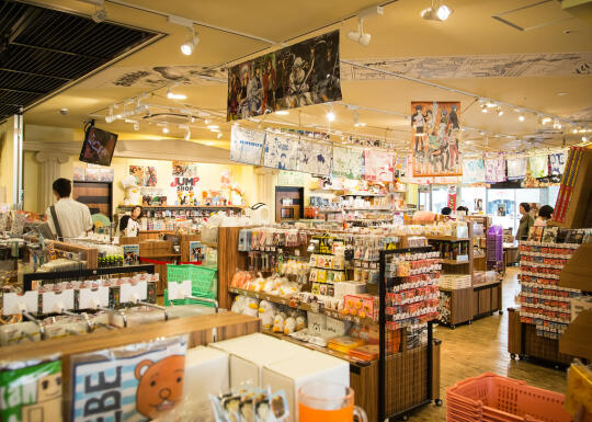 Inside the anime store