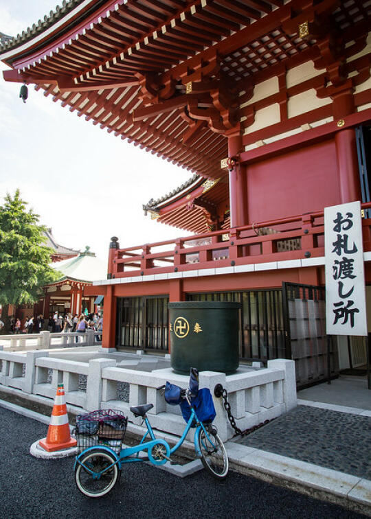 Side of Sensoji temple