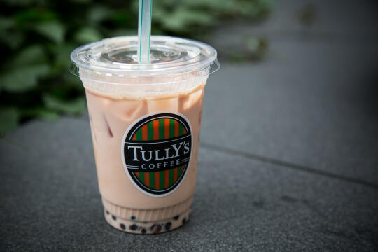 Boba milk tea from Tully's