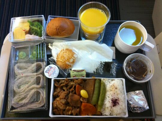 Airplane dinner