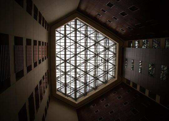 Skylight in our hotel