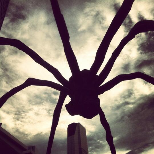 Spider statue