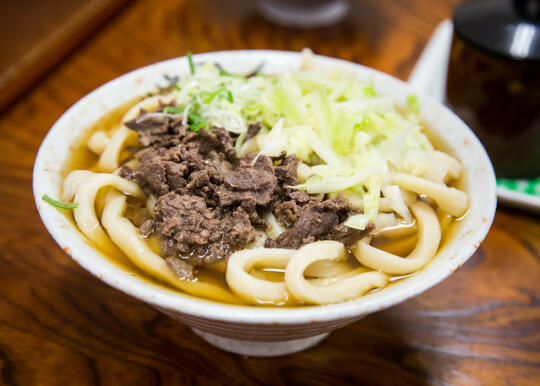 Son's udon with horsemeat