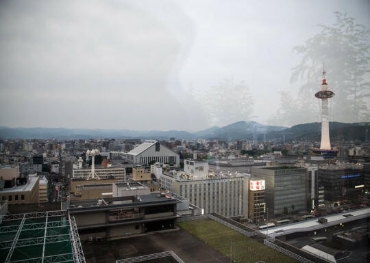 View of Kyoto from the roof of Kyoto Station