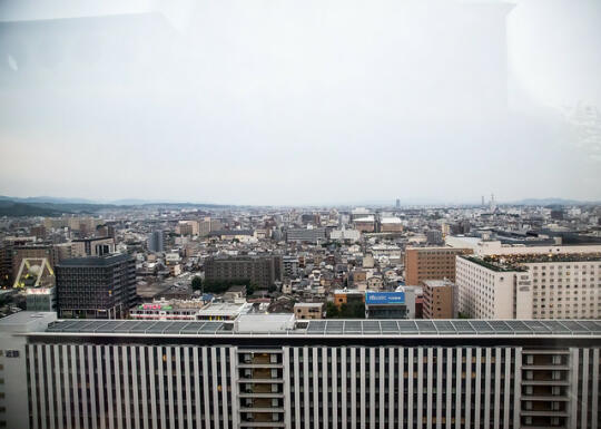 Heading up to the roof of Kyoto Station