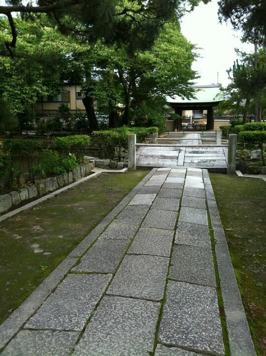 A pathway in the park