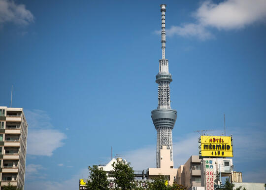 Tokyo Skytree as seen from Sensoji temple