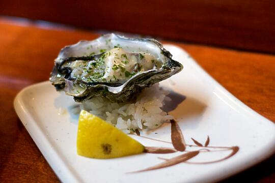 Small Pacific Oyster with Sake Butter