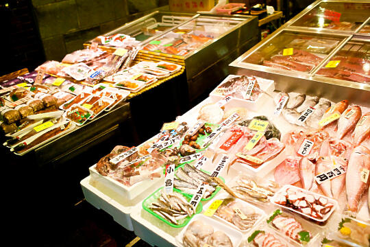 More sashimi at Nishiki Market