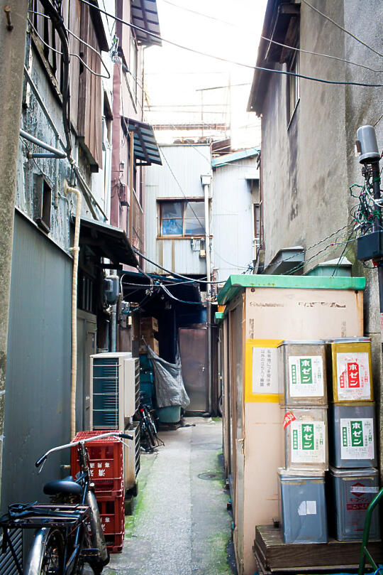 Side alley at Tsukiji