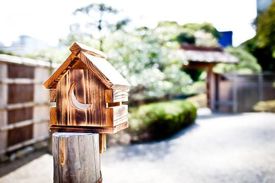 Tea house inside Hamarikyu Gardens