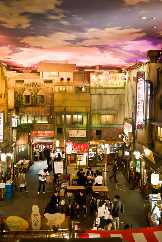 Inside of ramen museum