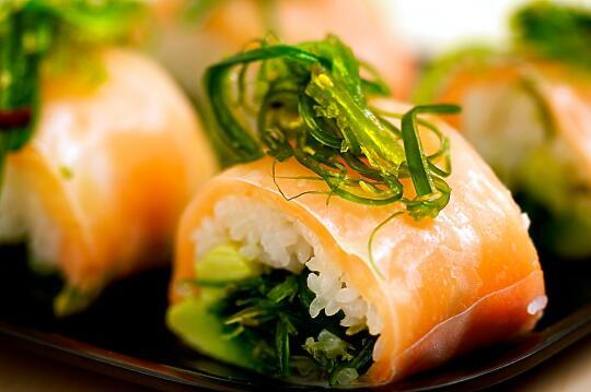 Seaweed Salmon Roll