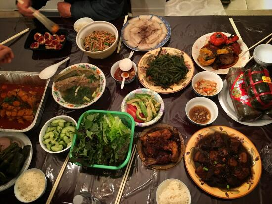 Lunar new year feast