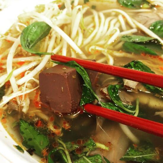 Bun bo hue blood cubes