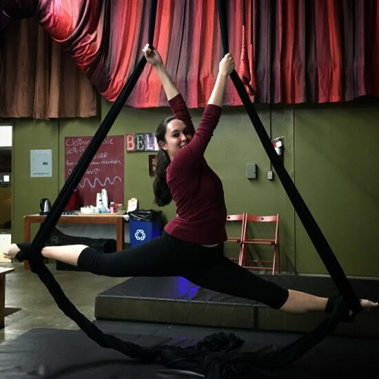 Allison on silks