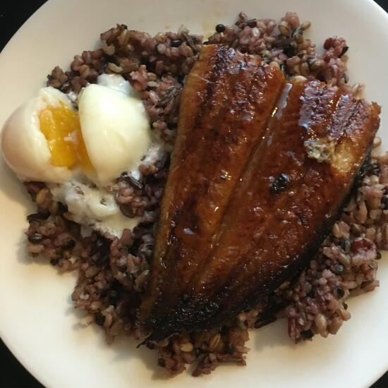 Unagi over rice