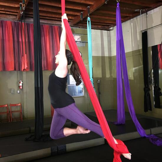 Allison on the silks