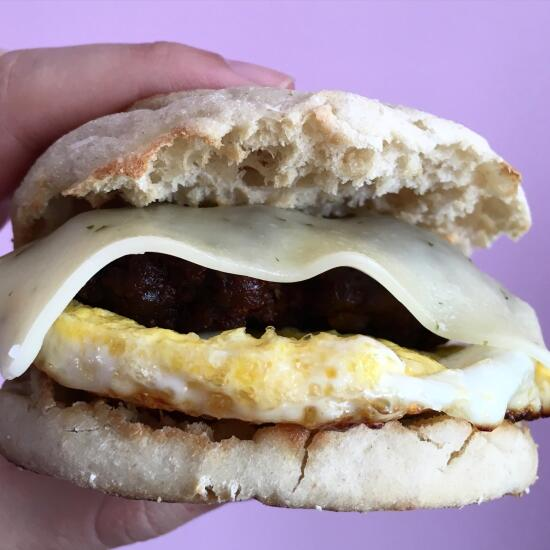 Chorizo breakfast sandwich