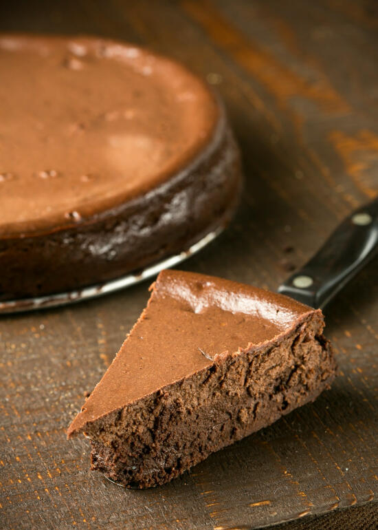 Triple Chocolate Brownie Bottom Cheesecake