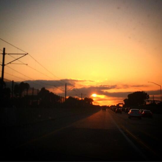 LA freeway sunset