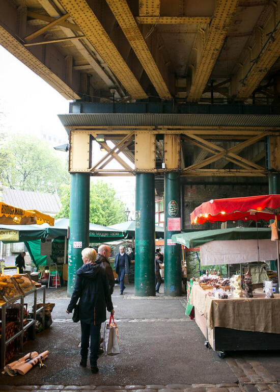 Vendors inside Borough Market