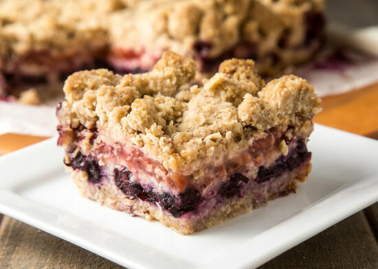Blueberry Strawberry Crumble Bars