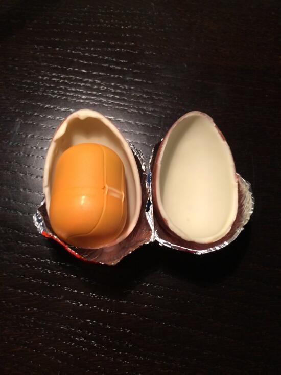 Opening Kinder egg