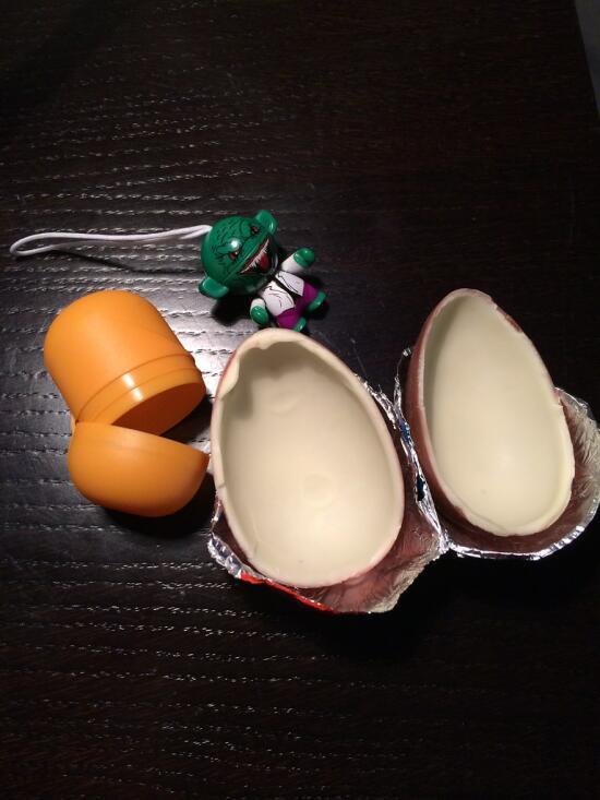 Opened Kinder egg