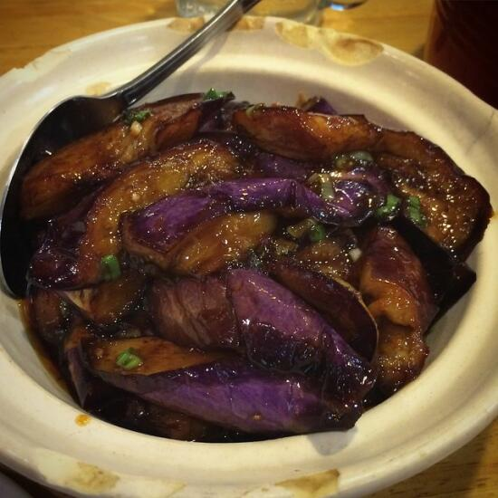 Chinese braised eggplant