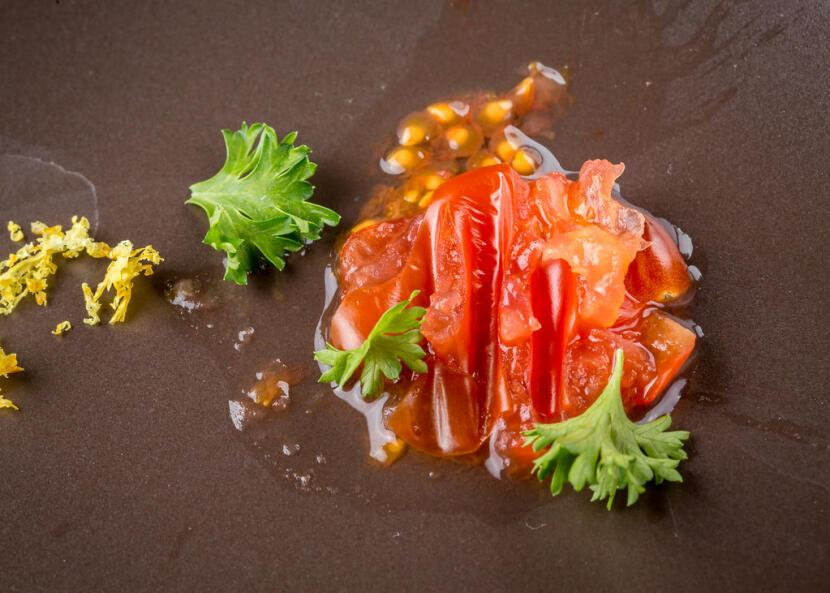 An artsy tomato