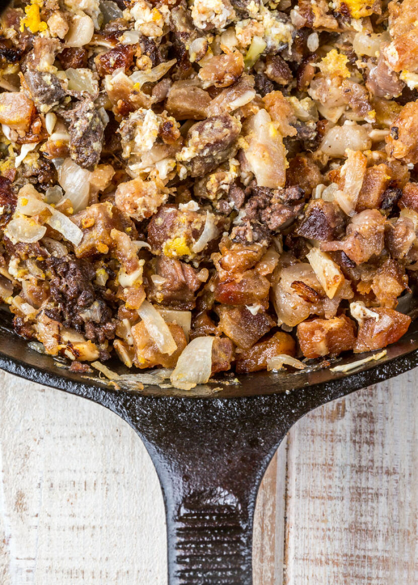 February Cookbook Club: sizzling sisig and tortang talong from I Am A Filipino