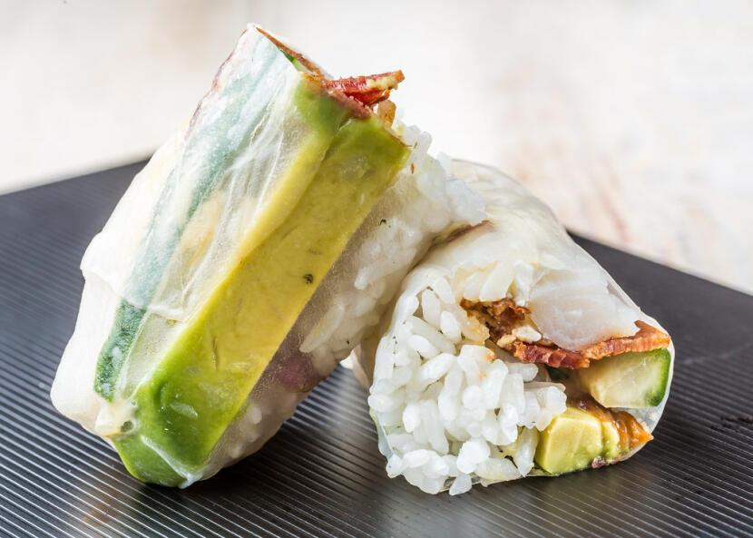 Happy crab roll
