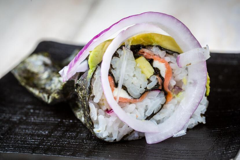 salmon summer sushi