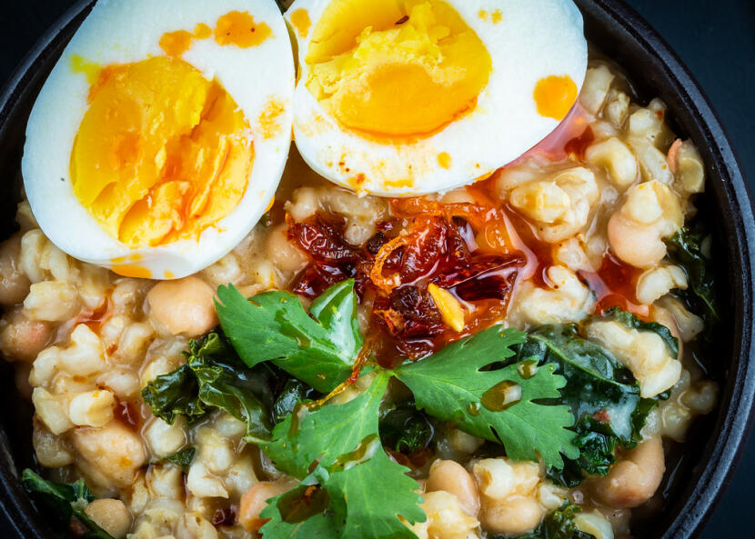 chili crisp bean stew