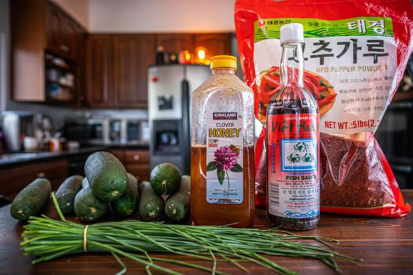 cucumber kimchi ingredients