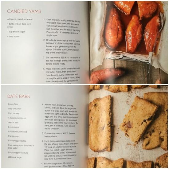 Inner pages of cookbook
